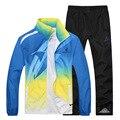 Марка одежды мужчины, легкий воздухопроницаемой сеткой Повседневная Тонкий мужская спортивная одежда и Футболка & костюмы мужчин и jogger костюмы для мужчин L-4XL