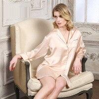 The New Summer Minimalist Home Underwear Silk Pajamas 100% Silk Pajamas Comfortable 19m/m