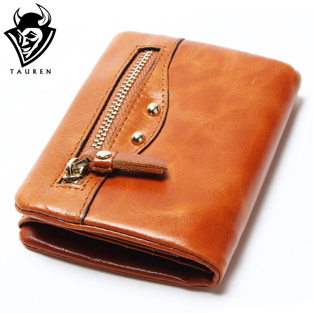 Retro Cow Genuine Leather Women Fashion Solid Hasp Wallets 100% Oil Wax Leather Women Wallet Lady Short Card Holder Purse цена и фото
