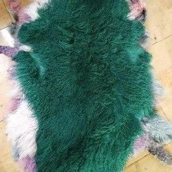 Top Quality Curly Kalgan Lamb Fur Skin / Real Curly Mongolian Lamb Pelt