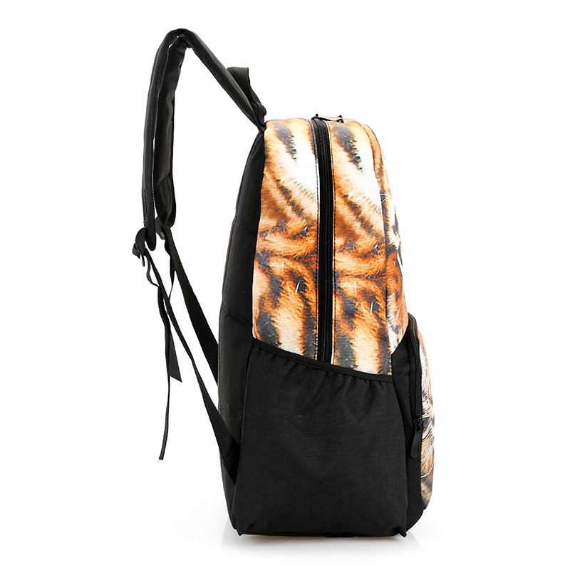 8baf1b9500 New Brand Cool Funny Animals Pringting Tiger Wolf Leopard Lion Backpack  Graffiti Bags Man Bag Sport Outdoor Gear Free Shipping-in Backpacks from  Luggage ...
