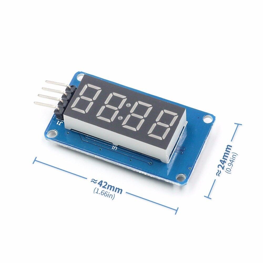 TM1637 светодиодный Дисплей модуль 7-сегментный 4 биты 0,36 дюймов часы красный анод цифровой трубки четыре последовательных драйвер платы Pack