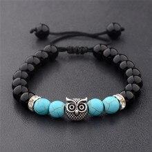 Beads Bracelet Owl Bangle Yoga Jewelry Gifts Fashion-Accessories Natural-Stone Women