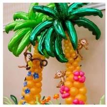 10 stücke 36 zoll kokospalme blatt Folie ballons Sommer party Hawaii Geburtstag Hochzeit Room Decor palm blatt Aluminium globos liefert
