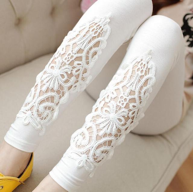 Women's Floral Lace Elegant Leggings  3 colors XS-7 XL