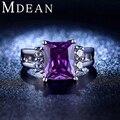 MDEAN blanco chapado en oro Amethyst Púrpura de la CZ de La Joyería Anillos de Bodas de Diamante Para Las Mujeres Engagement Bague Bijoux Accesorios MSR202
