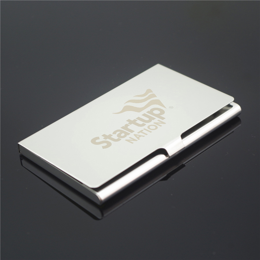 Personalized Metal Business Card Holder Custom Logo Engraved ...