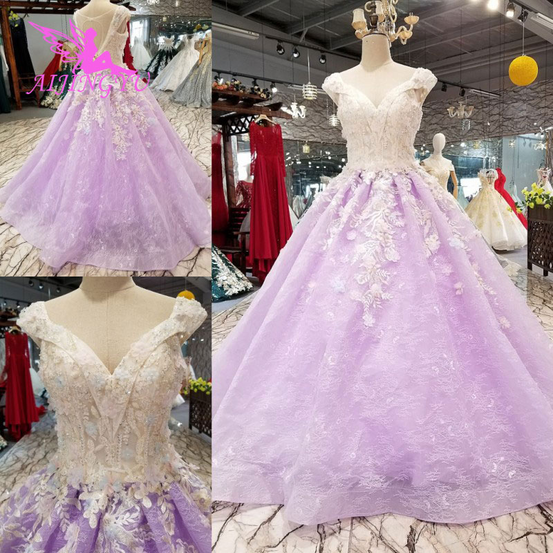 AIJINGYU Long Bridal Robe White Sheer Robe Online Shop China Curvy Women Sexy Gowns Online Shopping Lace Wedding Dresses
