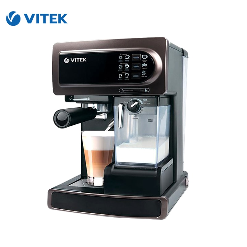 Coffee Maker Vitek VT-1517 coffee machine coffee makers maker espresso cappuccino electric horn Capuchinator coffee bean roasting machine household mini stainless steel electric drum type rotation coffee roaster zf