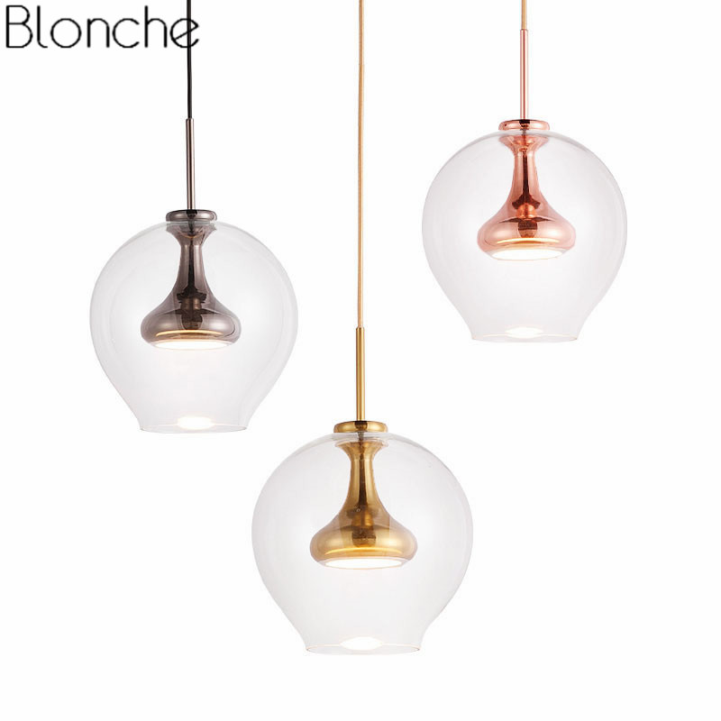Modern LED Pendant Light Fixtures Nordic Glass Hanging Lamp For Dining Room Bedroom Kitchen Home Lighting Decor Luminaire 220V iwhd modern luminaire suspendu iron led pendant light fixtures dining kitchen hanging lamp home lighting creative design lamp