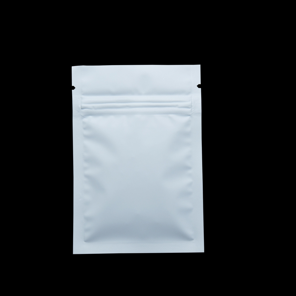 Wholesale 7x10cm Matte White Aluminum Food Storage Bag Coffee Snack Tea Smell Proof Package Mylar Foil Packaging Bags 2000pcs