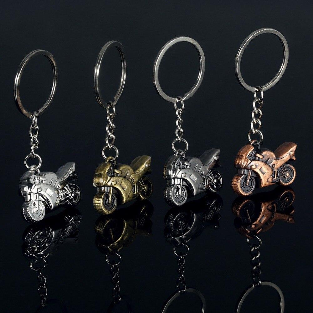 Fashion Heavy Motorcycles Model Key Chains Ring Men Car Keychain Charms Women Jewelry Keyring Souvenir Party Gift Woman Trinket