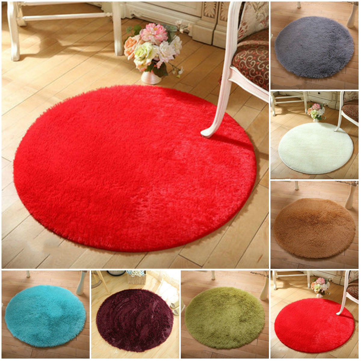 Fluffy Round Rug Carpets For Living Room Carpet Kids Room