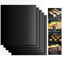 1PC Reusable BBQ Grill Mat Pad Sheet Hot Plate Nonstick Bakeware Portable Easy Clean