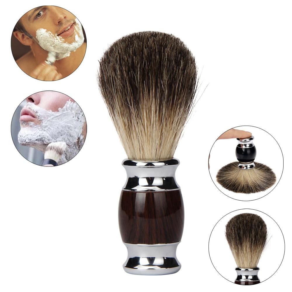 Good Quality Brand Pure Badger Hair Resin Handle Shaving Shave Brush Black Badger Hair Barber Salon Tool BW Man feb22 badger лодка badger boat utility line ul 360