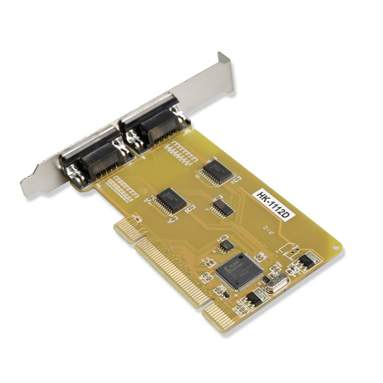 HK-1112D Industrial Grade PCI to RS232 Serial Port Expansion Card PCI Multi-port Serial Card for Win7 32-bit Operating System image