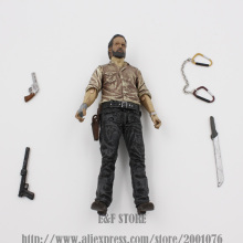 TV Series The Walking Dead Rick Grimes Michonne Daryl Dixon action figure with weapons 15cm Collectible Model Toy