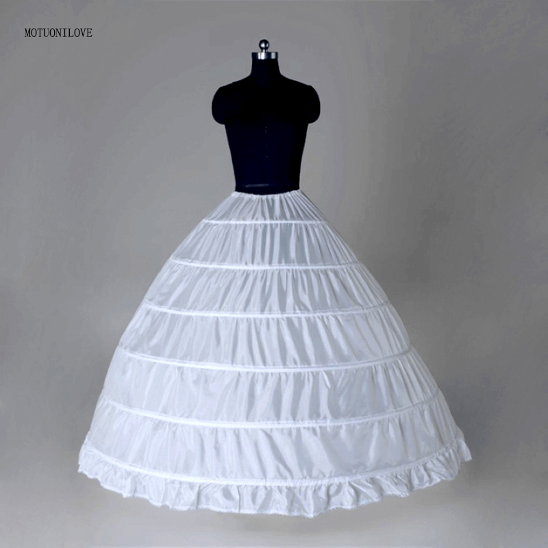 6 Six Hoops Bone Big Crinoline For Puffy Skirt For Ball Gown Petticoat Underskirt Woman For Quinceanera Dress Jupon Vintage