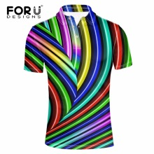 FORUDESIGNS High Quality Brand Men Polo 3D Colorful Fashion Polo Homme Shirt New Summer European Men's Camisa Plus Size XS-XXL женский пиджак brand new 2015 xs xxl q249