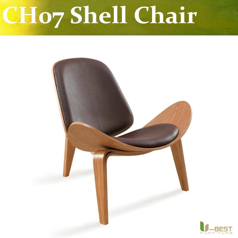 Free shipping U-best CH07 Shell Chair Premium Office Chairs by Carl Hansen and Son free shipping three legged shell chair