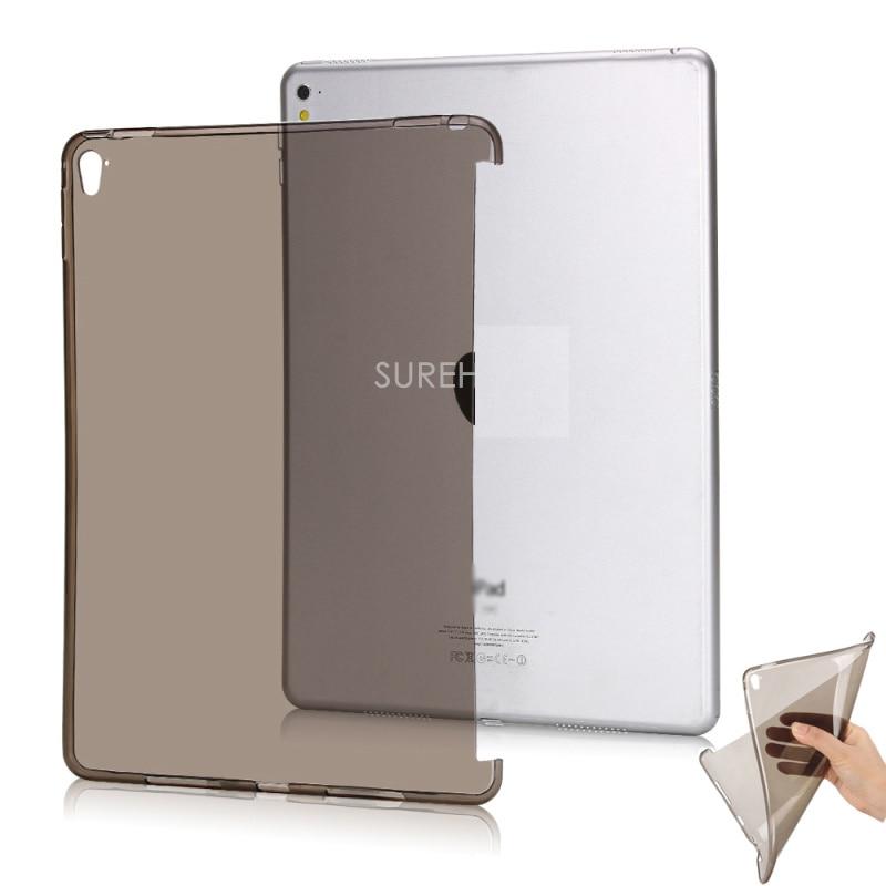 Bonne Clair flexible tpu fond de silicone retour cas pour apple ipad pro 12.9 couverture 2015 cas protéger smart cover partenaire