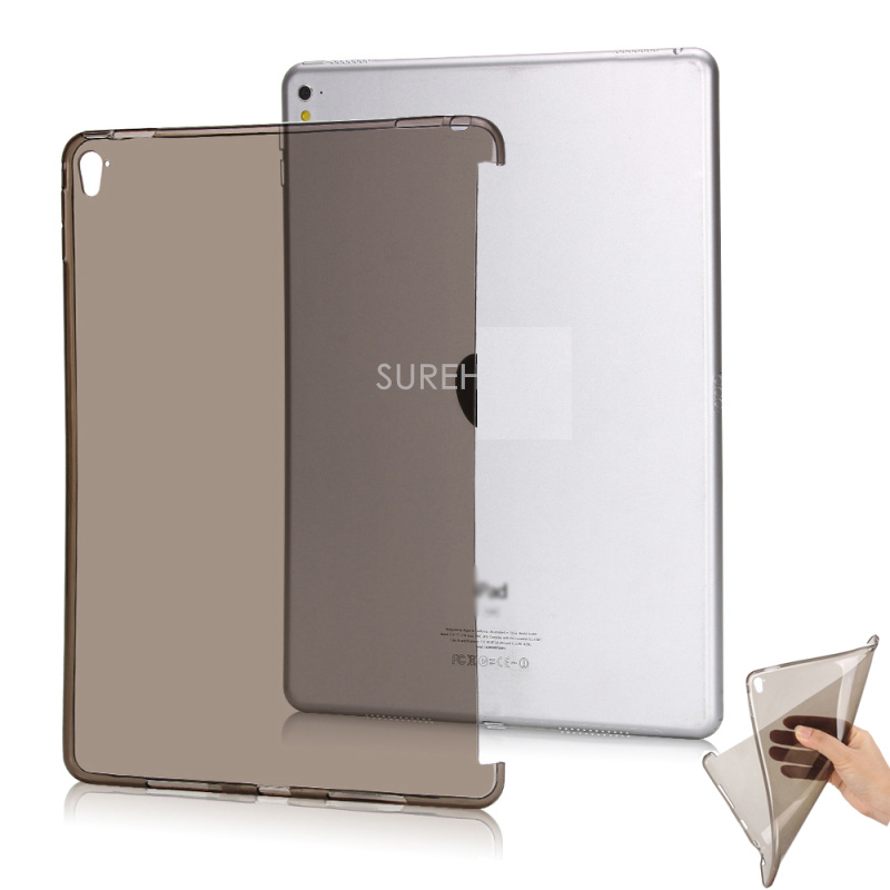 Good Clear flexible tpu silicone bottom back case for apple ipad pro 12 9 cover 2015