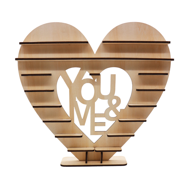 "43X40cm Wedding DIY ""Love"" Decoration Wood Cake Stand Candy Pop Chocolate Stand Wedding Souvenirs Gifts for Guests Party Supplie"