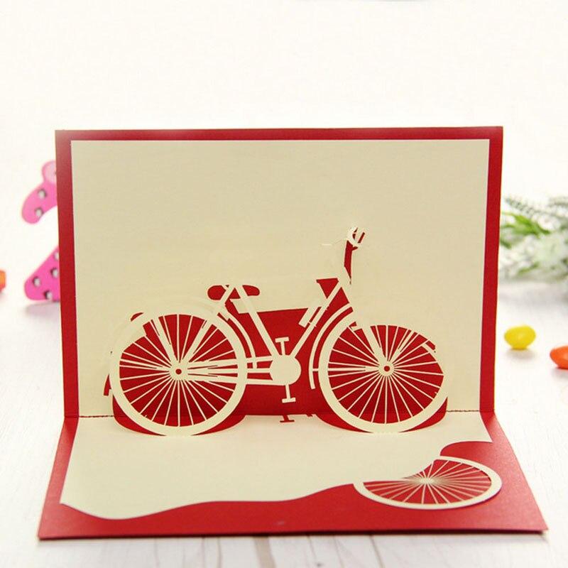 d popup de bicicleta hecha a mano de origami de papel del corte del