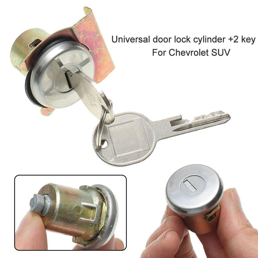2Pcs Universal Metal Door Lock Cylinder Car Door Lock Cylinders With 2 Keys For Chevrolet Truck SUV
