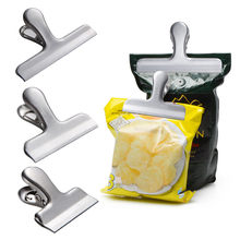ISHOWTIENDA Food Storage Stainless Steel Chip Bag Clips 2/3/4 inch width Durable Kitchen Accessories 2019 Home Hot Sale(China)