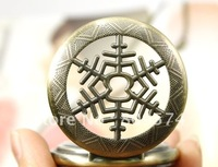 wholesale price good quality fast ship man classic old new bronze antique snowflake men mechanical pocket watch hour