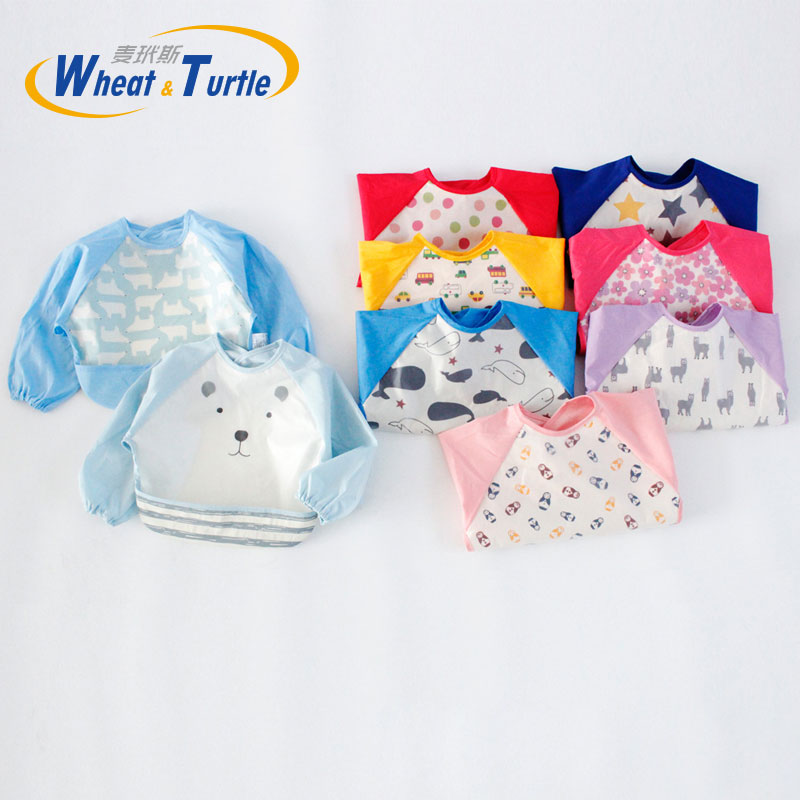 4315b94ed3b60 US $4.13 15% OFF|Aliexpress.com : Buy Mother Kids Baby Clothing Accessories  Bibs Burp Cloth Unisex Baby Bibs Infant Burp Cloths Long Sleeve Waterproof  ...