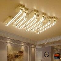 Современная алюминиевая формы из акрилового лампа пользовательского энергосберегающие водо и пыле гостиная квадратный потолочный светил