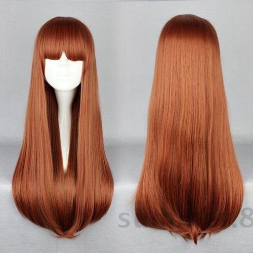 New Harajuku Long Straight Fashion Hair Full Wigs Cosplay Party Anime Wig+Wig Lace Cap hot heat resistant party hair unlight multi nida loli fashion long cosplay wigs 120cm