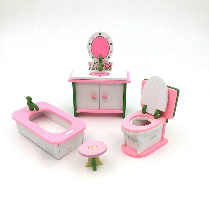 Kids Play House Wooden Toy Set Dressing Table Children's Chairs Wood Furniture Kitchen Combination Toys Dining Table 12 Style
