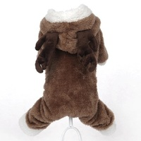 Free Shipping New 2015 Hot Pets Dog Clothes Pet Clothes Winter Warm Four Legs Elk Turned