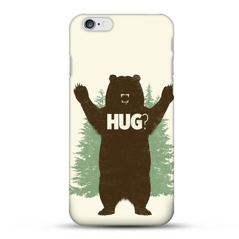 HUG Bear Wood Leaves Hard Case for iPhone 6 6S Design Protective