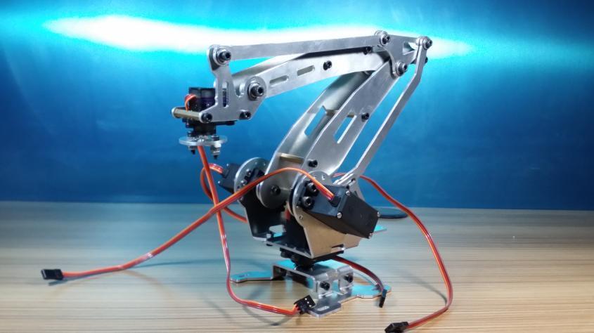 Wenhsin Abb Industrial Robot 528R Mechanical Arm 100% Alloy Manipulator 6-Axis Robot arm Rack with 4 Servos abb 6dof industrial robot mechanical arm alloy robotics arm rack with servos for arduino assembled