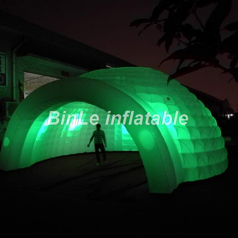 Top quality outdoor giant inflatable dome tent with LED large inflatable party tent wedding marquee wider entrance inflatable cartoon customized advertising giant christmas inflatable santa claus for christmas outdoor decoration