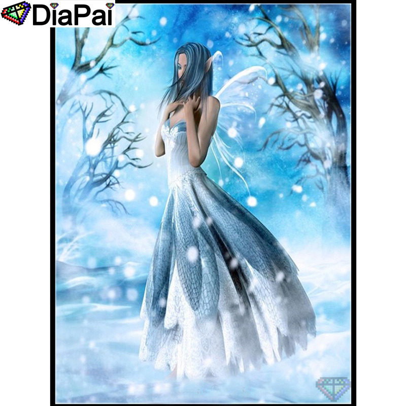 "DIAPAI 5D DIY Diamond Painting 100% Full Square/Round Drill ""Butterfly fairy"" Diamond Embroidery Cross Stitch 3D Decor A22880(China)"