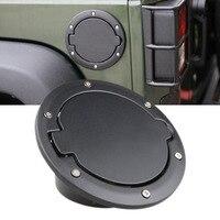 Nuevo de Calidad Superior de ABS Negro Del Tanque de Combustible Gas Cap Cubierta Durable Práctico Para Jeep Wrangler $ Number Puertas $ Number Puertas de Fácil Instalación