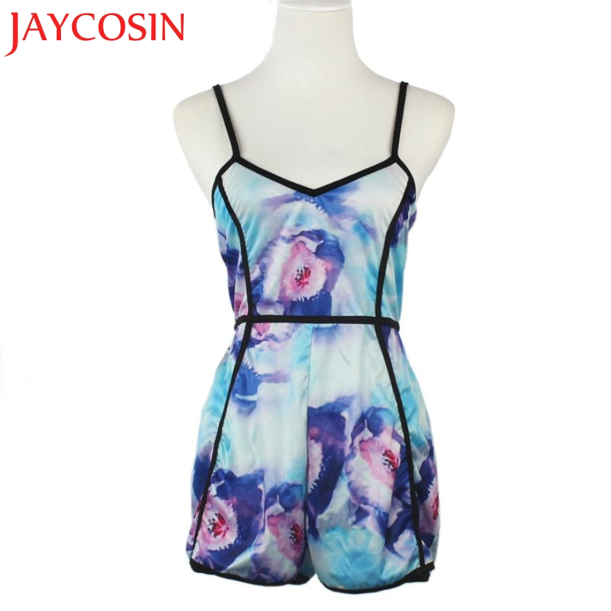 SIF Hot 2020New Fashion 1PC Romper Sexy Women V-Neck Floral Casual Jumpsuit Playsuit Rompers Trousers New Arrive Hot Dropship711
