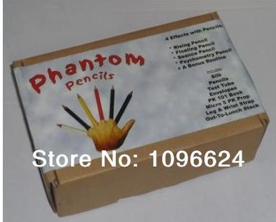 Phantom pencil / let the audience wide.stage magic props/accessories,card mental stage close up magic tricks singular bulbs magic props white silver black
