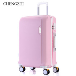 CHENGZHI20222426 inches girl ABS trolley case spinner boarding luggage fashion woman rolling suitcase travel bag on wheels