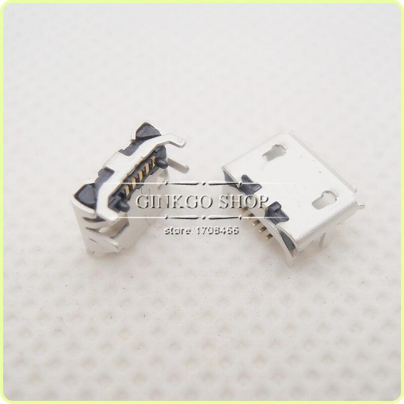 1000PCS LOT Micro 5P USB jack socket connector 4 foot DIP Big Ox horn