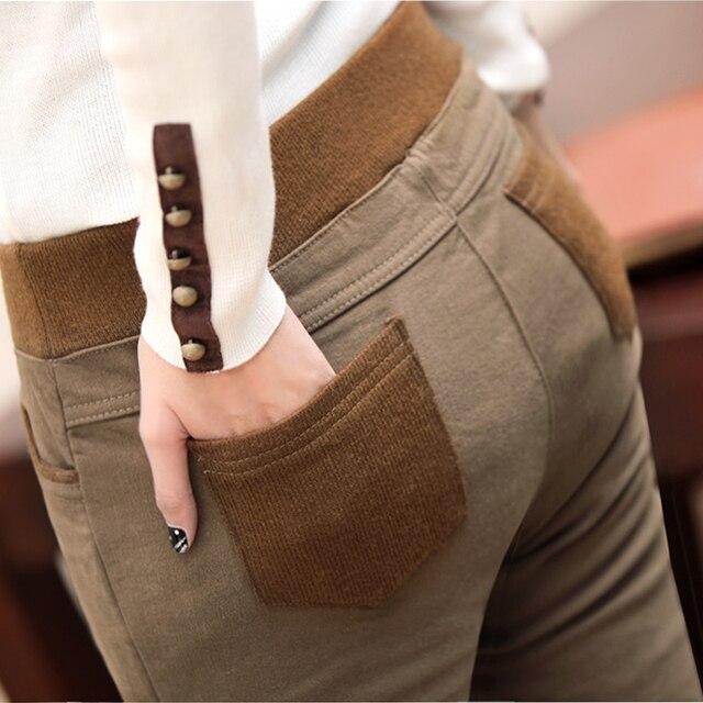women Velvet Thick Legging 2017 Autumn Winter Women Pants Female Patchwork Pencil Trousers Plus Size Leggings free shipping