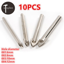 10PCS 6/8/10/12mm Hole Diameter Ceramic Triangular Drill Carbide Open Hole Metal Drill Power Tools Ceramic Tile Drilling Bit