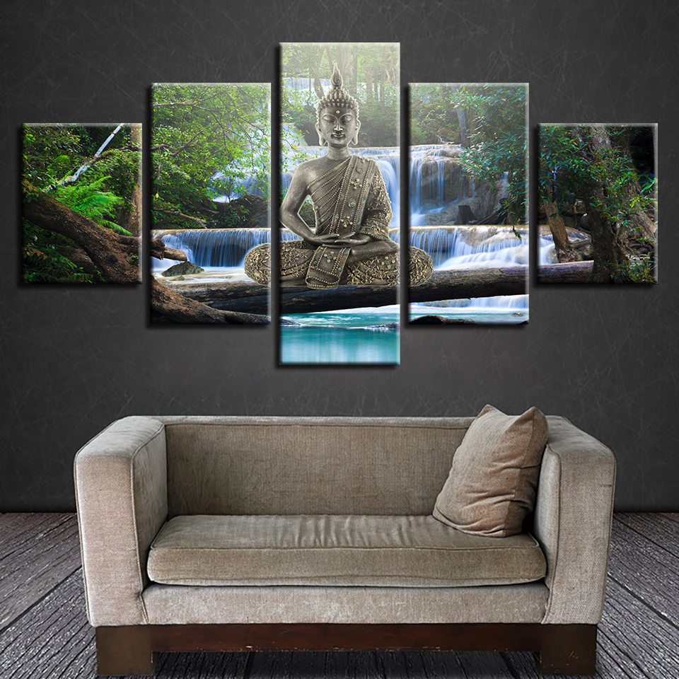 tableau-zen-foret-bouddha-relaxation-cadre-bouddha-cadre-zen-art-decoration-zen-deco-artetdeco
