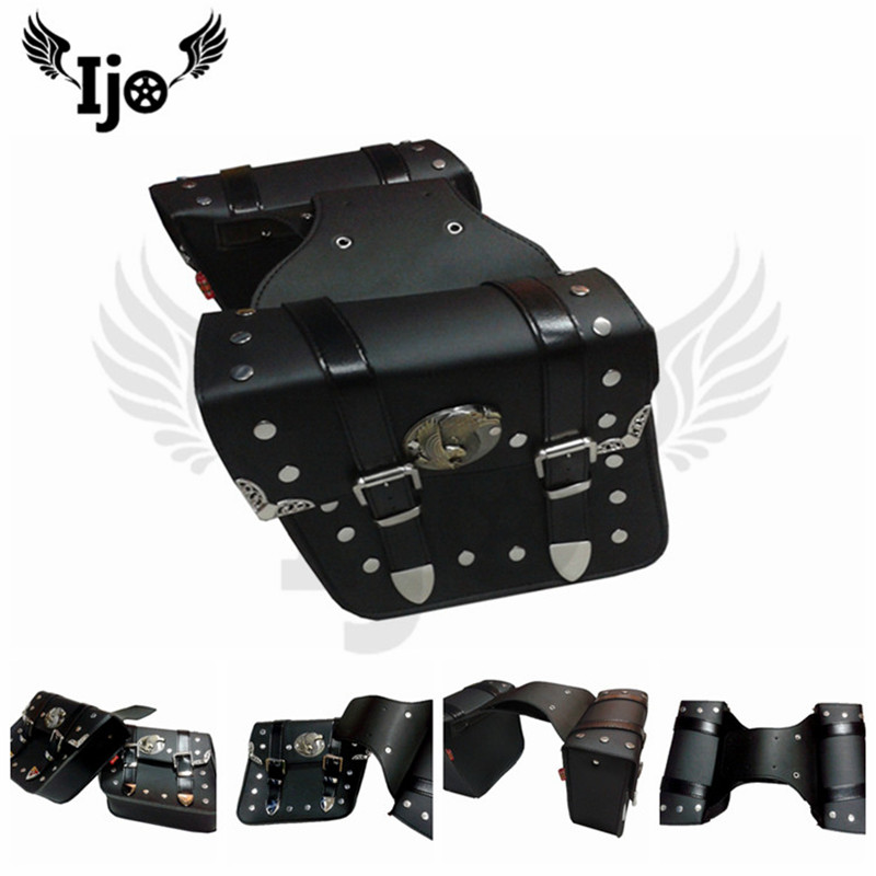 1 pair top quality scooter side bags part motorcycle saddlebag moto tail bag for honda suzuki yamaha harley motorbike saddle bag