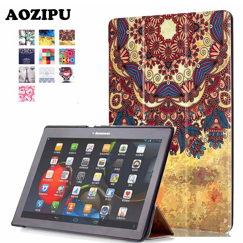 Smart Sleep Print 10.1 inch Tablet Case Protective Cover For Lenovo Tab2 Tab 2 A10-70 A10-30 X30F & TAB3 10 business(TB3-70F/M) for lenovo tab2 a10 70f smart flip leather case cover for lenovo tab 2 a10 70 a10 70f a10 70l tablet 10 1 with screen protector